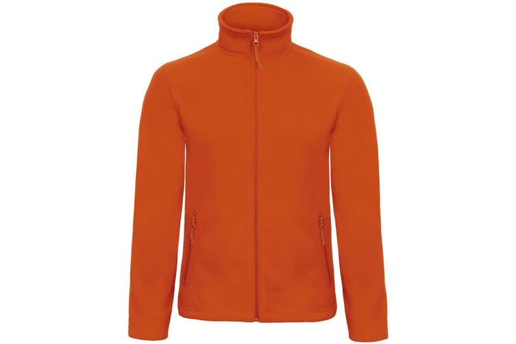B&C Collection Mens ID 501 Microfleece Jacket (Pumpkin Orange) (M)