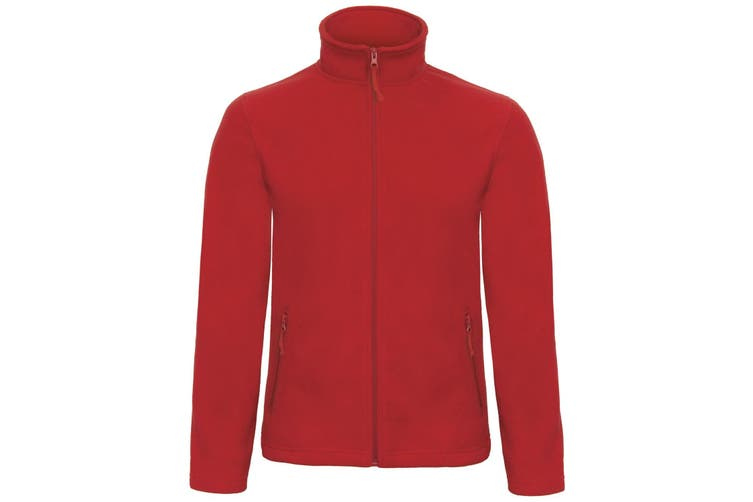 B&C Collection Mens ID 501 Microfleece Jacket (Red) (XS)
