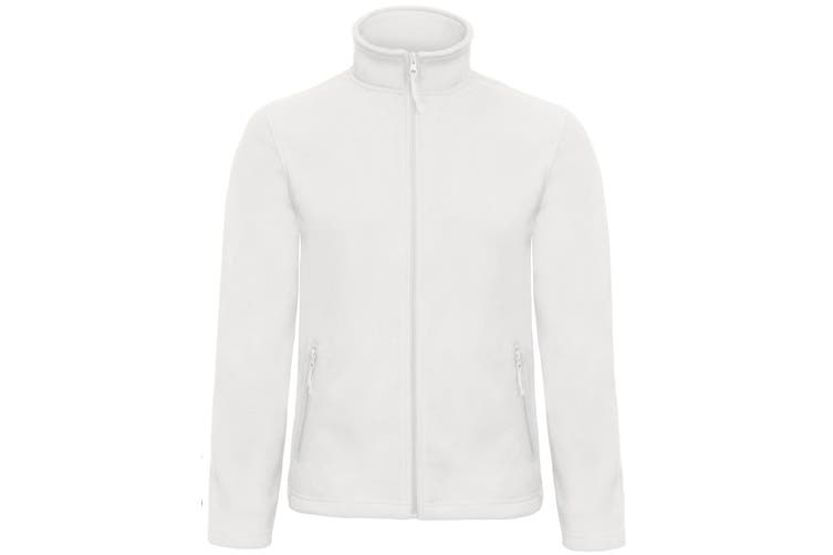 B&C Collection Mens ID 501 Microfleece Jacket (White) (XS)