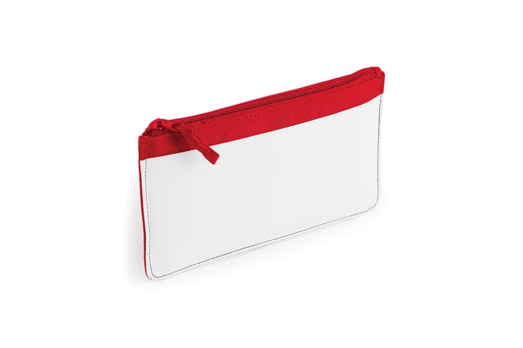 Bagbase Plain Sublimation Pencil Case (Classic Red) (One Size)