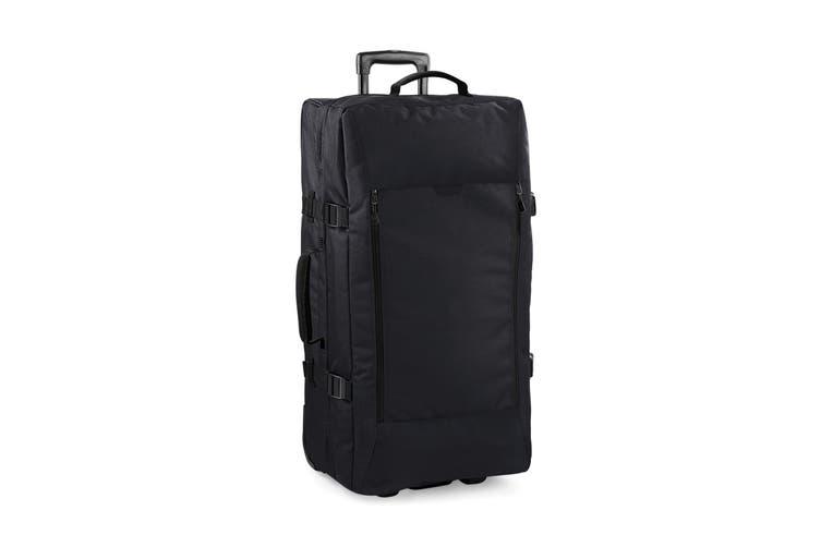 Bagbase Escape Dual-Layer Large Cabin Wheelie Travel Bag/Suitcase (95 Litres) (Black) (One Size)