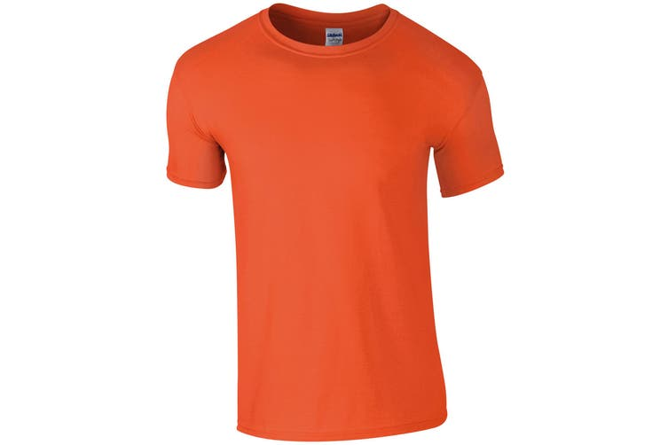 Gildan Mens Short Sleeve Soft-Style T-Shirt (Orange) (4XL)