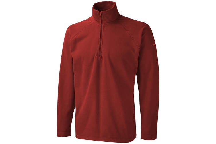 Craghoppers Mens Basecamp Microfleece FZ Half Zip Fleece Top (Red) (M)