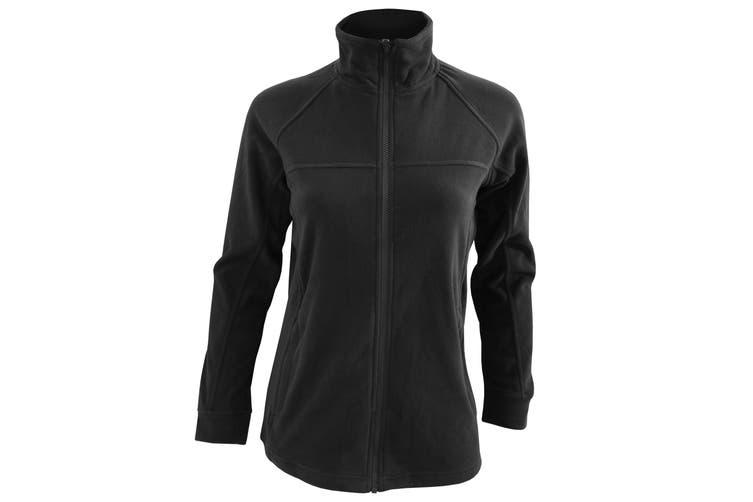 Craghoppers Womens/Ladies Lightweight Basecamp Microfleece FZ Full-Zip Jacket (Black) (18)