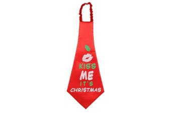 Christmas Shop Oversized Novelty Christmas Tie (Red) (One size (59cm))