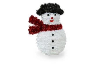 Christmas Shop Decorative Tinsel Wall Plaque (Snowman) (One size)