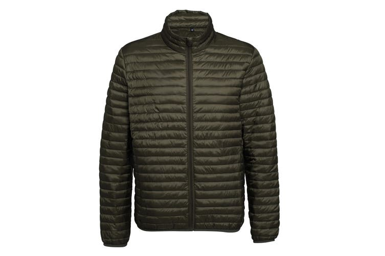 2786 Mens Tribe Fineline Padded Jacket (Olive) (XS)