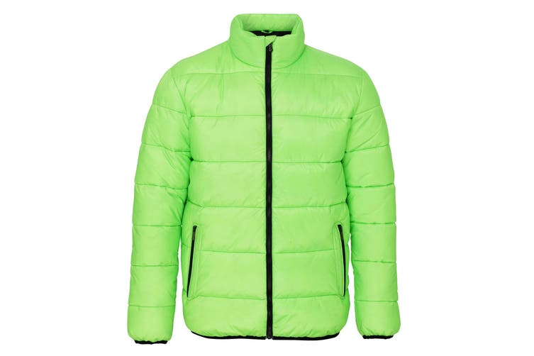 2786 Mens Venture Supersoft Padded Full Zip Jacket (Lime / Black) (2XL)