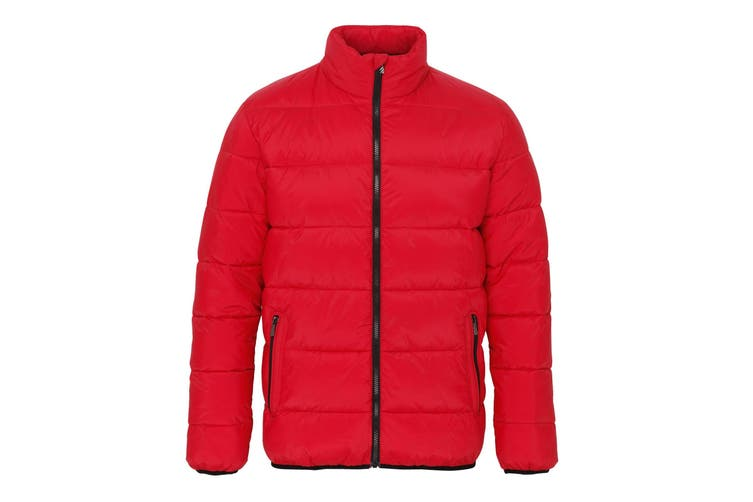 2786 Mens Venture Supersoft Padded Full Zip Jacket (Red/Black) (2XL)