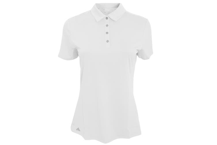 Adidas Teamwear Womens/Ladies Lightweight Short Sleeve Polo Shirt (White) (XL)