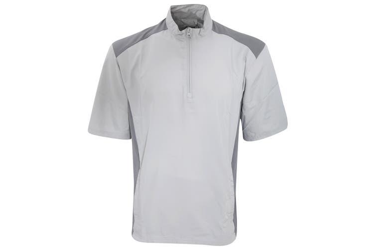 Adidas Mens Club Wind Water Resistant & Windproof Short Sleeve 1/4 Zip Neck Top (Stone) (XS)