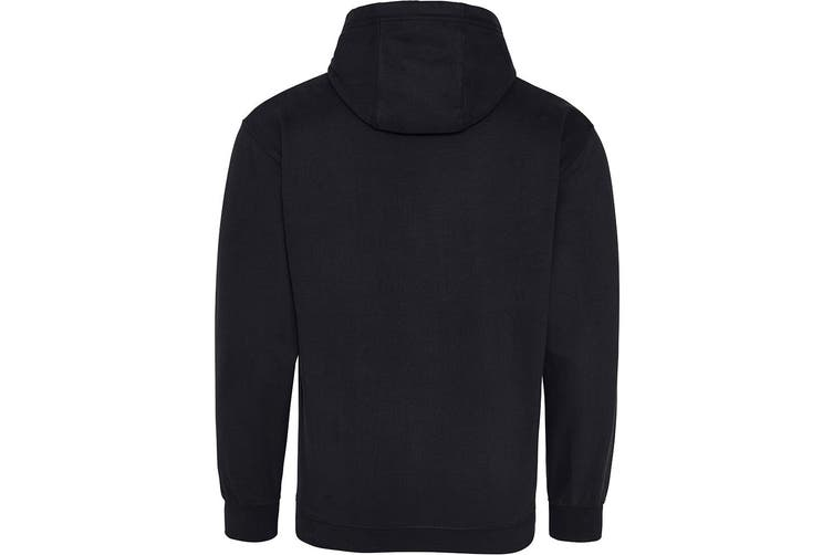 AWDis Just Hoods Adults Unisex Supersoft Hooded Sweatshirt/Hoodie (Black) (XS)