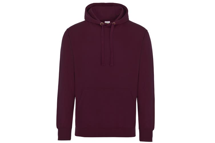 AWDis Just Hoods Adults Unisex Supersoft Hooded Sweatshirt/Hoodie (Burgundy) (L)