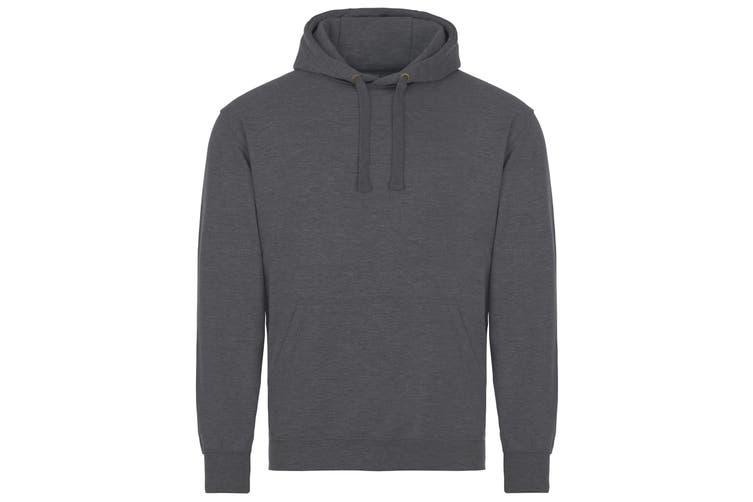 AWDis Just Hoods Adults Unisex Supersoft Hooded Sweatshirt/Hoodie (Charcoal) (XL)