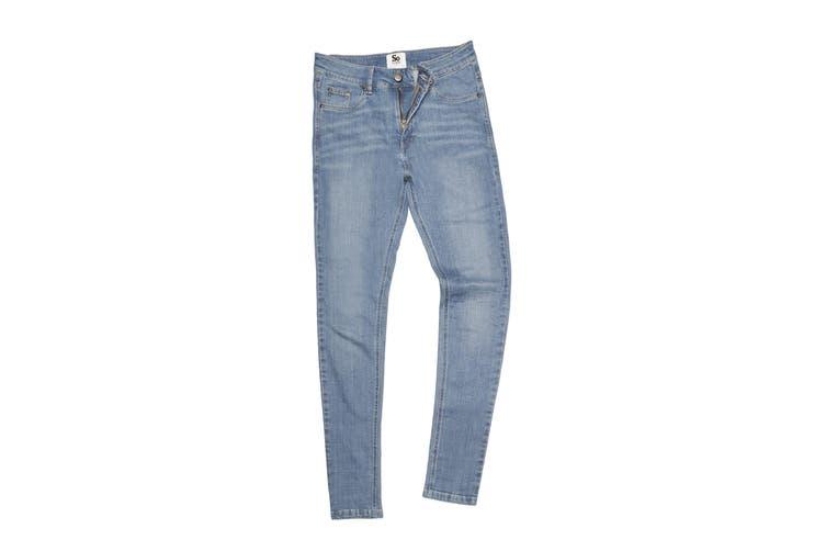 AWDis So Denim Womens/Ladies Lara Skinny Fit Jeans (Light Blue Wash) (16R)