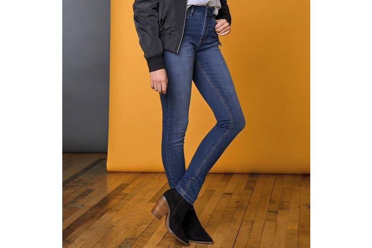 AWDis So Denim Womens/Ladies Lara Skinny Fit Jeans (Dark Blue Wash) (12R)