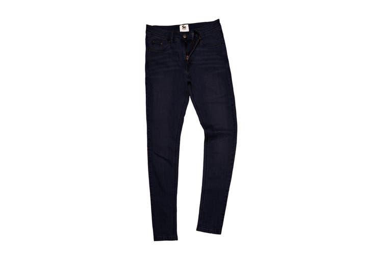 AWDis So Denim Womens/Ladies Lara Skinny Fit Jeans (Black) (14R)