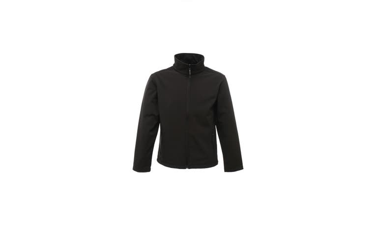 Regatta Classics Mens 3 Layer Softshell Jacket (All Black) (L)