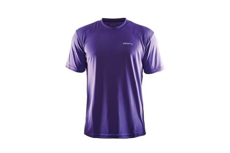 Craft Mens Prime Lightweight Moisture Wicking Sports T-Shirt (Purple) (L)