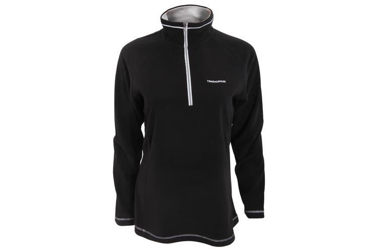 Craghoppers Womens/Ladies Seline Half Zip Micro Fleece Top (Black) (10)