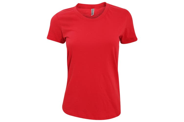 American Apparel Womens/Ladies Plain Short Sleeve T-Shirt (Red) (S)