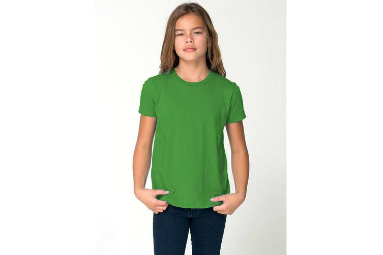 American Apparel Childrens/Kids Plain Short Sleeve T-Shirt (Kelly Green) (6 years)