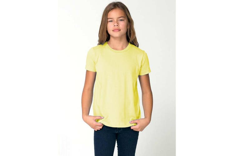 American Apparel Childrens/Kids Plain Short Sleeve T-Shirt (Lemon) (6 years)
