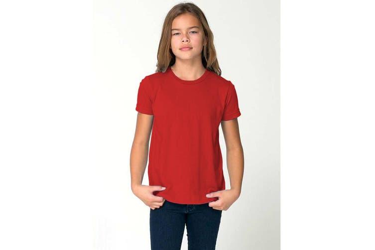American Apparel Childrens/Kids Plain Short Sleeve T-Shirt (Red) (6 years)
