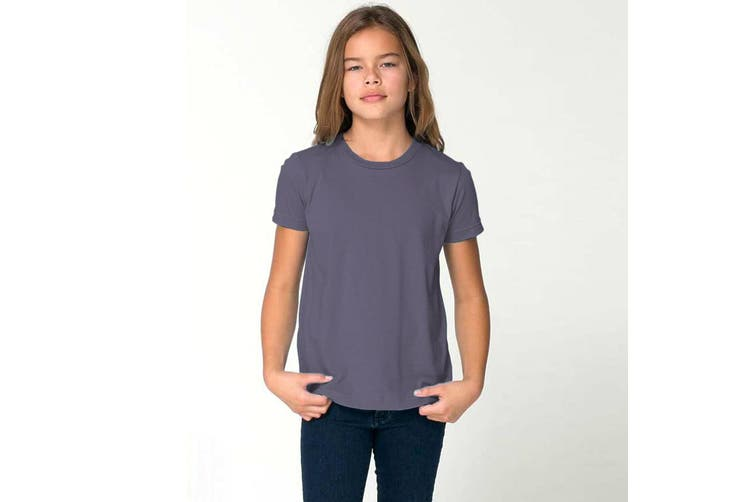 American Apparel Childrens/Kids Plain Short Sleeve T-Shirt (Slate) (6 years)