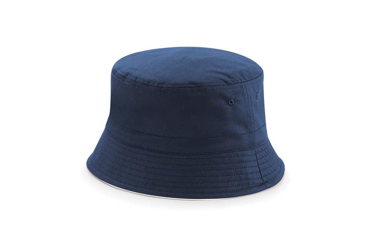 Beechfield Unisex Classic Reversible Bucket Hat (French Navy/ White) (LXL)