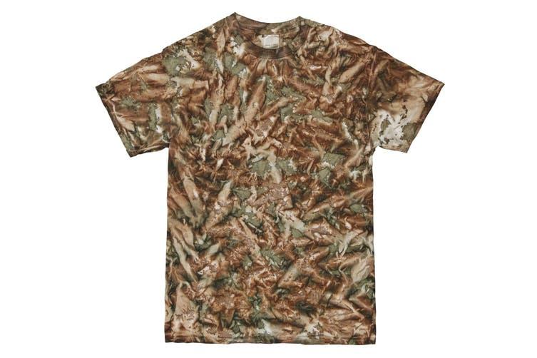 Colortone Mens Short Sleeve Tie Dye Camo Pattern T-Shirt (Camo) (M)