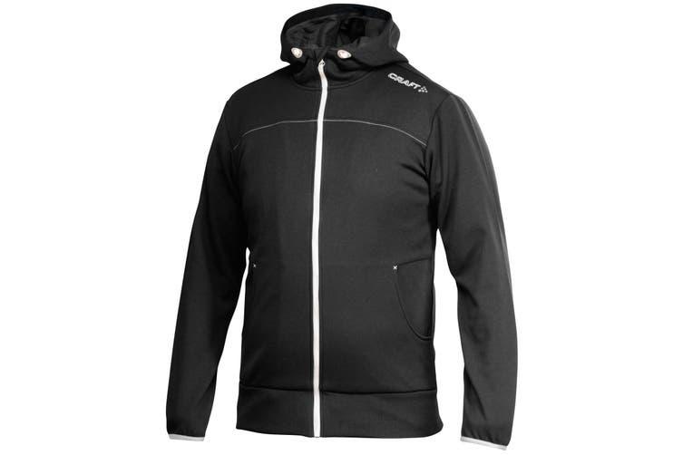 Craft Mens Leisure Athletic Full Zip Hoodie Jacket (Black) (XL)