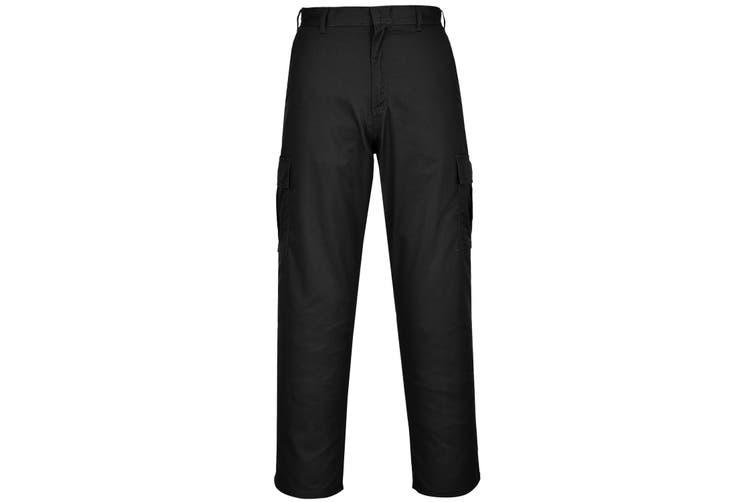 Portwest Mens Combat Work Trousers (Black) (38T)