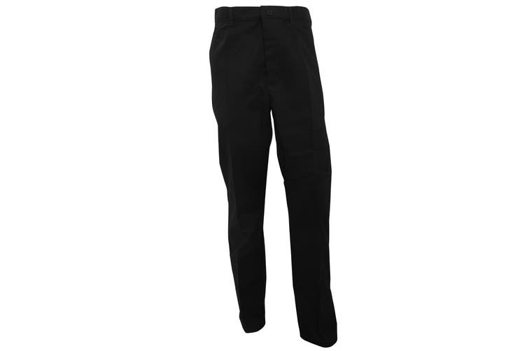 RTY Workwear Mens Pleated Trousers (Black) (32T)
