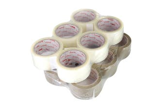 Essentials Parcel Packing Tape (Clear) (One size)
