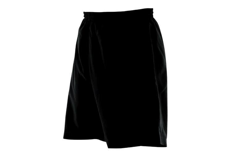Finden & Hales Mens Microfibre Sports Short (Black) (L)