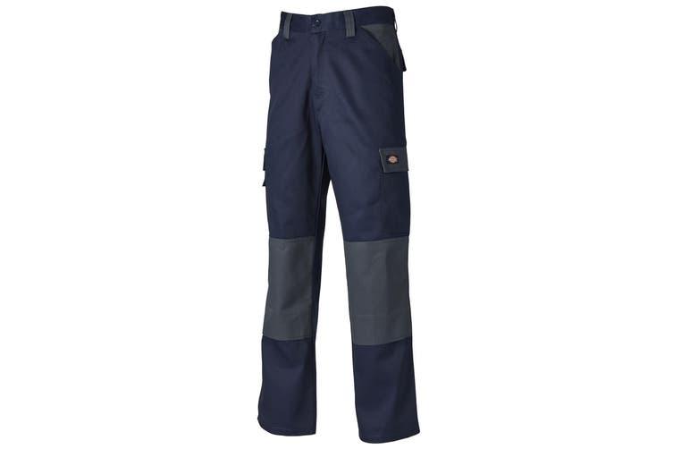 Dickies Mens Everyday Durable Cargo Pocket Work Trousers (Navy/ Grey) (38R)