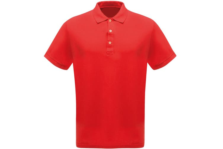 Regatta Classic Mens 65/35 Short Sleeve Polo Shirt (Classic Red) (S)