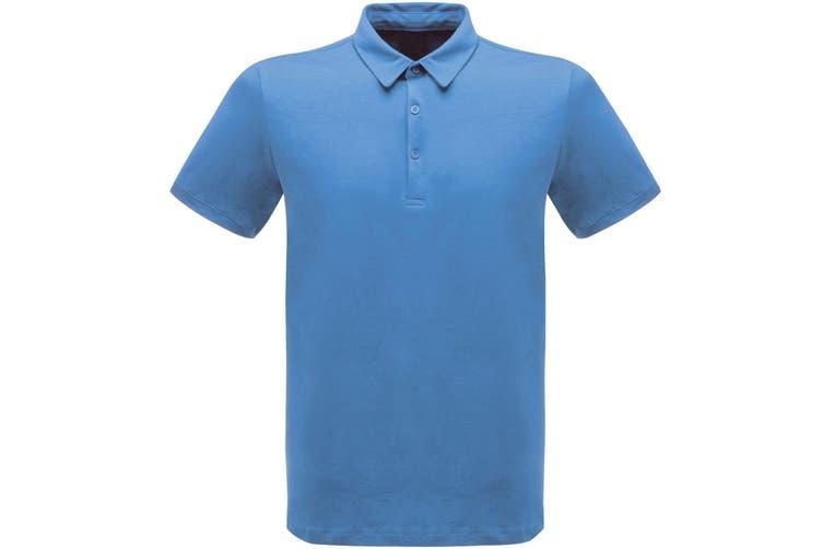 Regatta Classic Mens 65/35 Short Sleeve Polo Shirt (Royal Blue) (M)