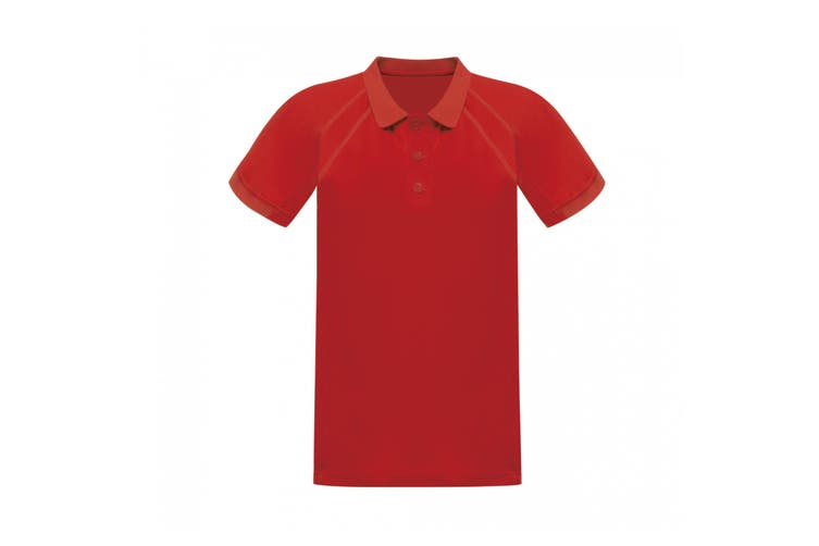 Regatta Hardwear Mens Coolweave Short Sleeve Polo Shirt (Classic Red) (M)