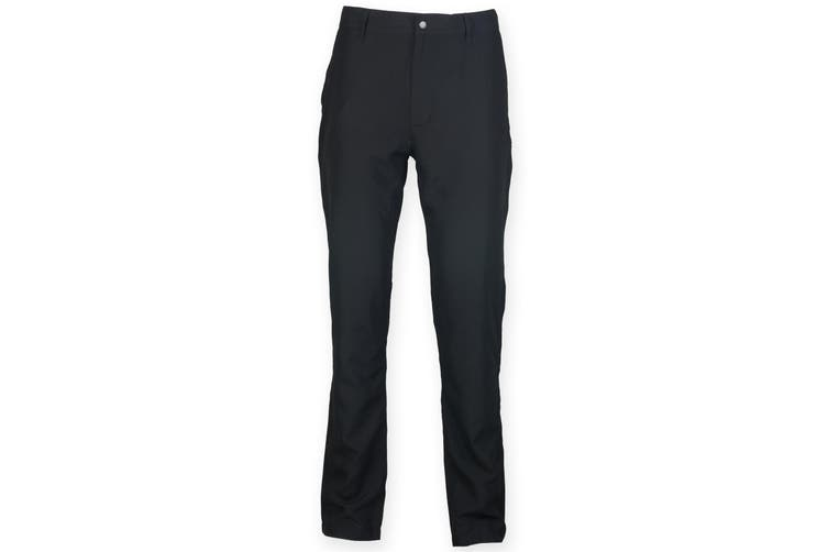 Finden & Hales Mens Zip Fly Sports Chino Trousers (Black) (L)