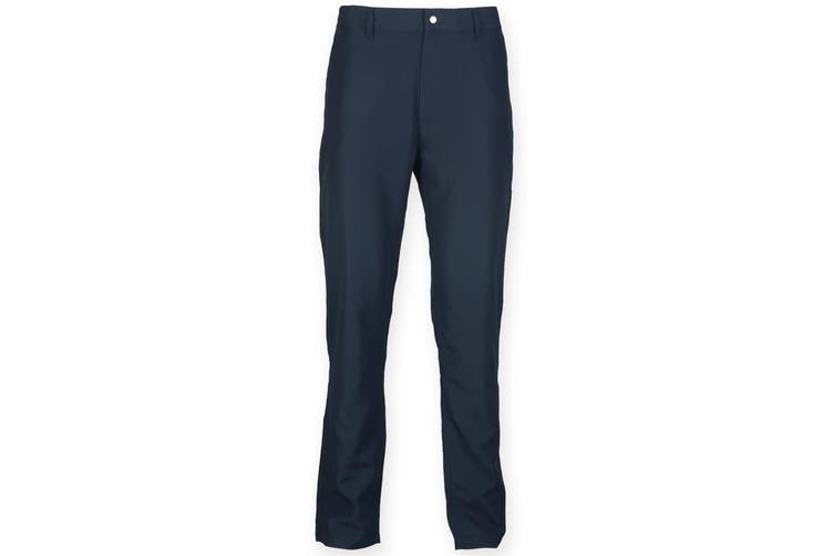 Finden & Hales Mens Zip Fly Sports Chino Trousers (Navy) (L)