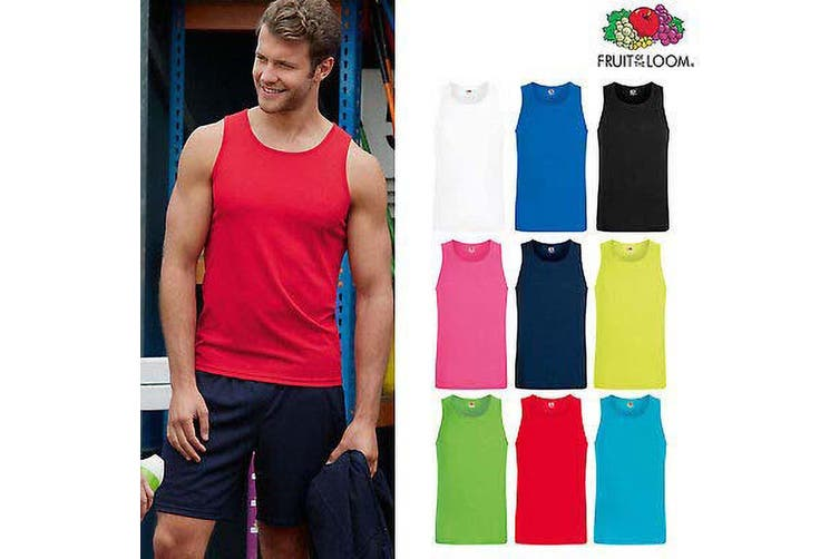 Fruit Of The Loom Mens Moisture Wicking Performance Vest Top (Red) (L)