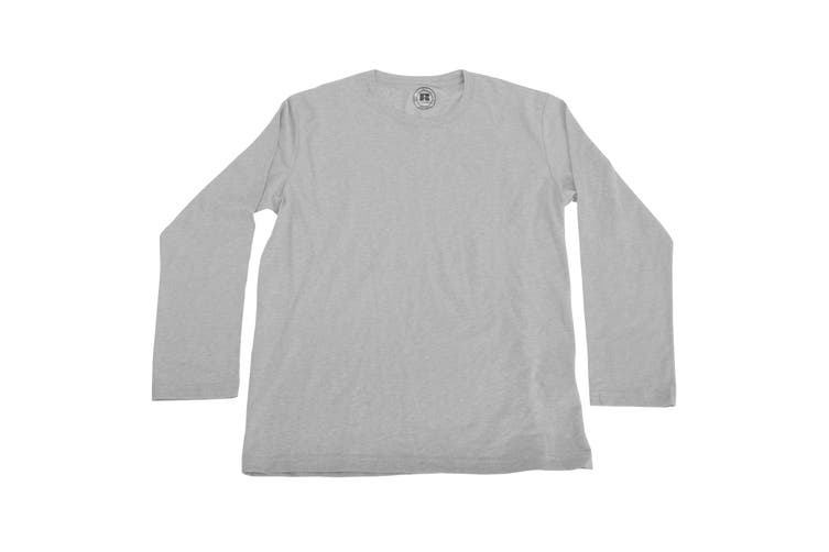 Russell Older Boys Long Sleeve HD T-Shirt (Silver Marl) (13-14 Years)