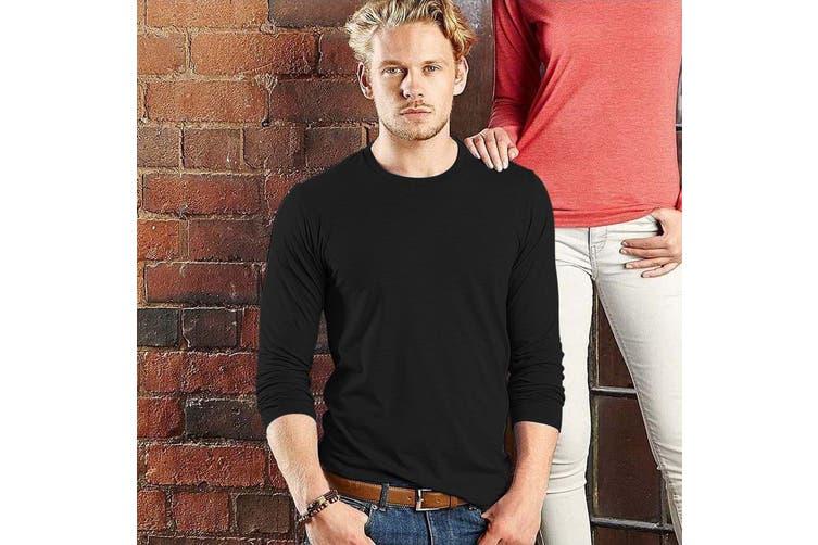 Russell Mens Long Sleeve HD T-Shirt (Black) (XXL)