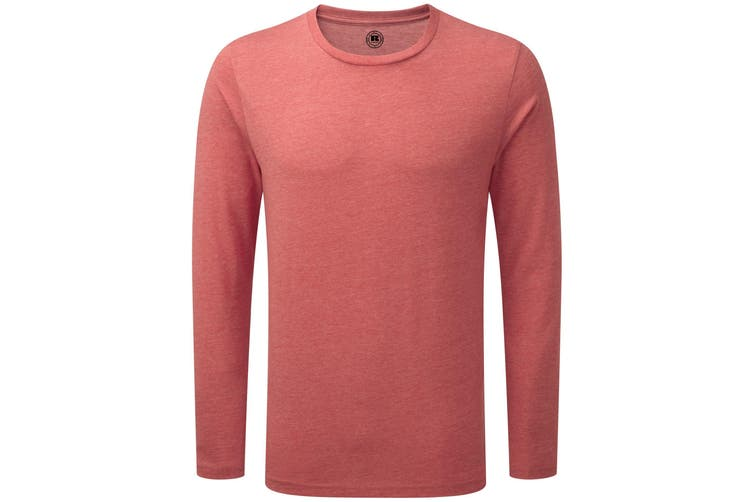 Russell Mens Long Sleeve HD T-Shirt (Red Marl) (3XL)