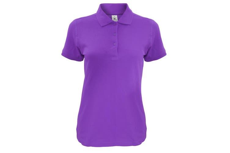 B&C Womens/Ladies Safran Timeless Polo Shirt (Purple) (L)