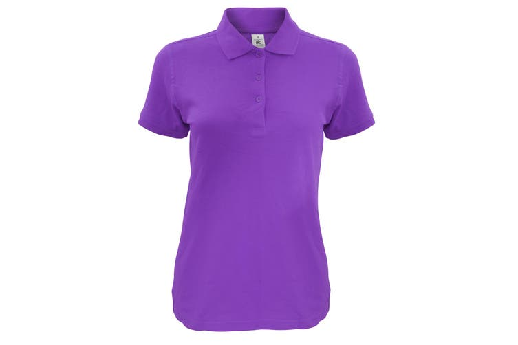B&C Womens/Ladies Safran Timeless Polo Shirt (Purple) (M)