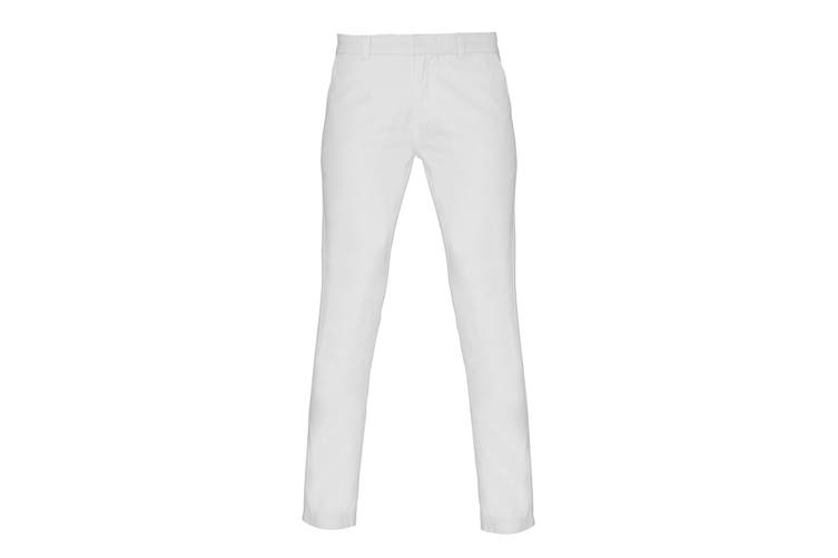 Asquith & Fox Womens/Ladies Casual Chino Trousers (White) (2XL)