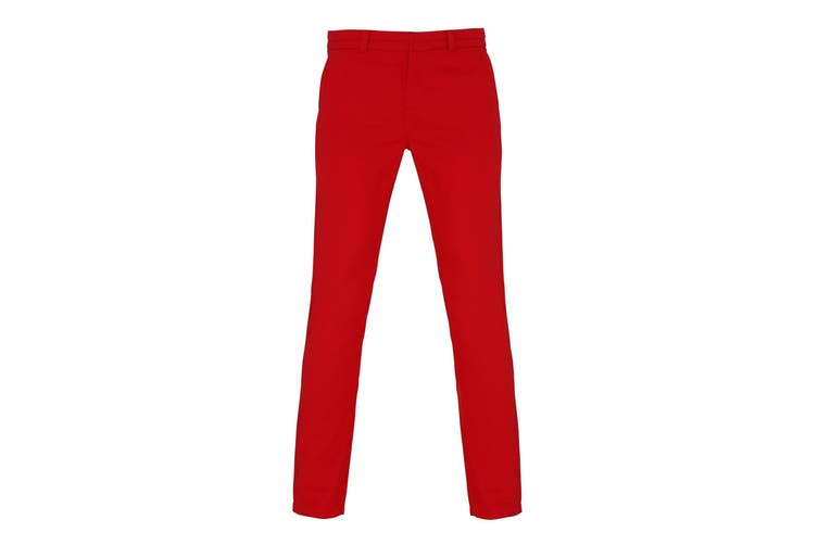Asquith & Fox Womens/Ladies Casual Chino Trousers (Cherry Red) (S)